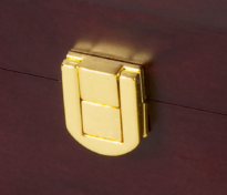 Brass lock on our CM-urn close up